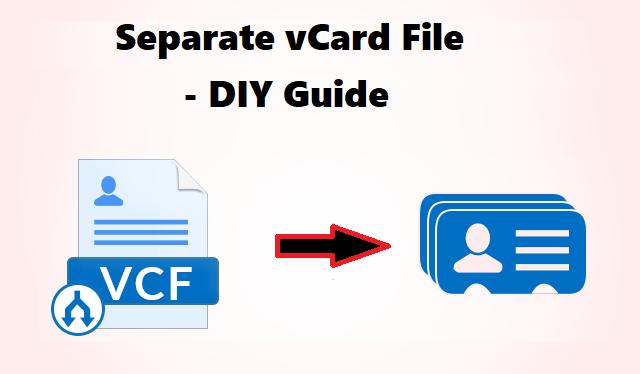 Отдельный файл vCard – краткое руководство с надежным решением