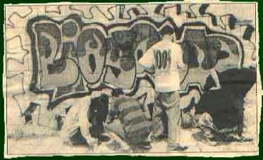 One of the first graffiti crew in Skopje called Biosquad
