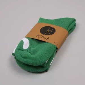 Happy Sad Socks - Classic - Green/White Face