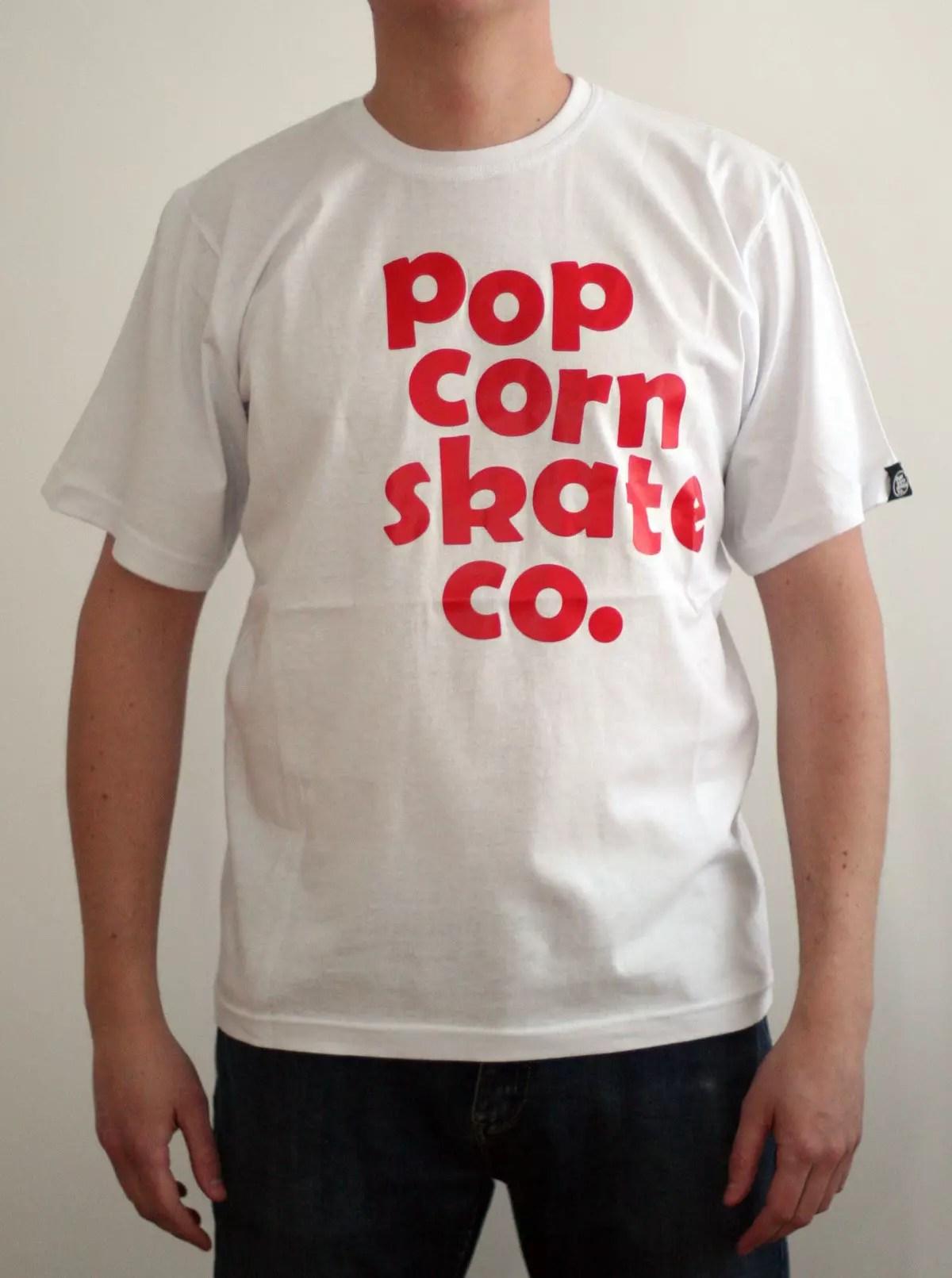Popcorn Team Tee (White)