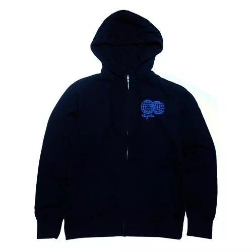 WORLDWIDE Zipper Hoodie Navy/Blue