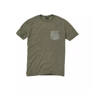 Magenta FINGERPRINT Pocket Tee Heather Olive