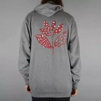 Magenta SACRED PLANT Hoodie Heather Grey