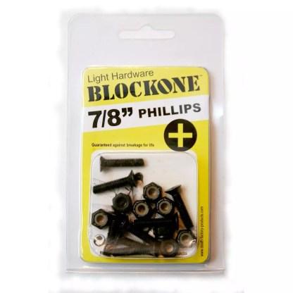 "Block One Skateboard Phillips Hardware 7/8"""