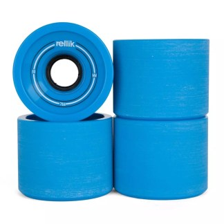 Rellik Longboard Wheels 69mm 78A Blue (Set of 4)