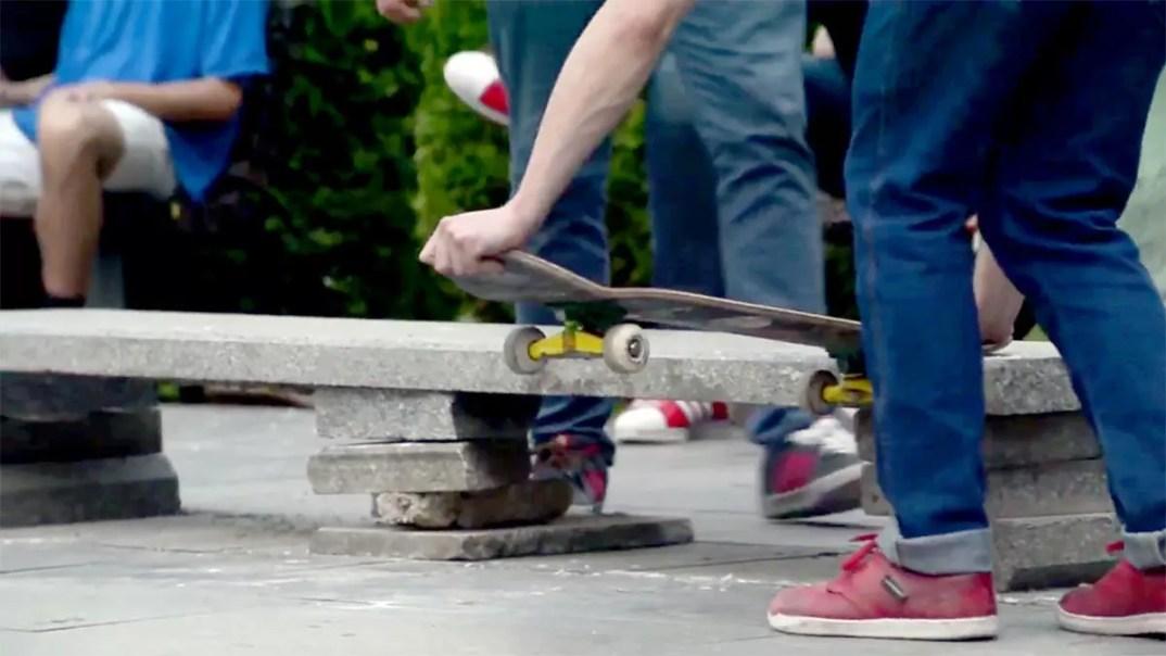 Skateboarding in City Park, Skopje by Sasho Lichovski
