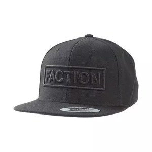 Faction 3D Logo Cap Black