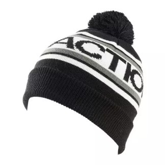 Faction Logo Pompom Beanie Black