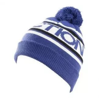 Faction Logo Pompom Beanie Blue