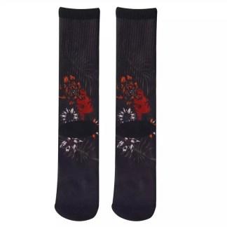 Footprint Knee High Socks - Ethnic