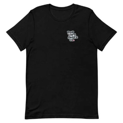 Popcorn Classic Logo T-Shirt Black