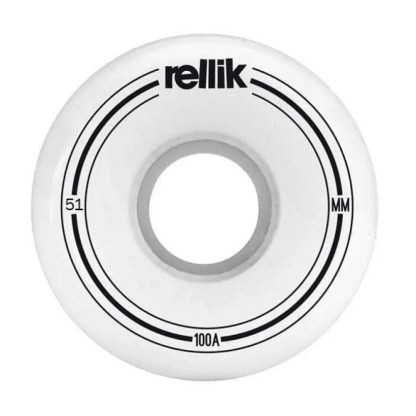 Rellik Mini Logo Wheels Slim Cut 51x29mm 100A (Set of 4)