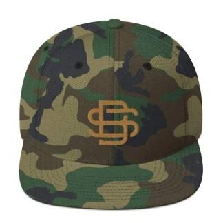SB Green Camo Snapback Cap