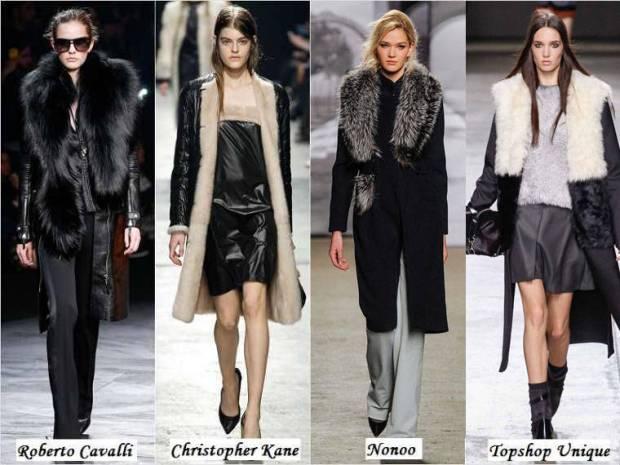 Pelerine si paltoane din blana iarna 2015