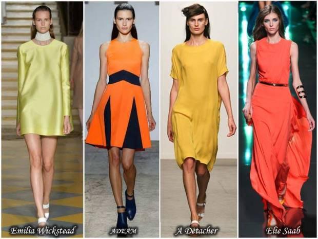 Rochii de culori aprinse primavara 2015