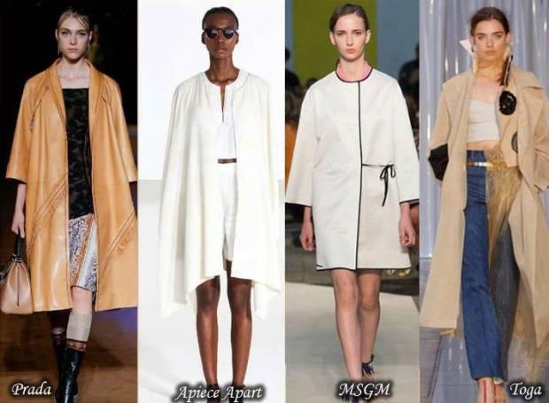 Trenciuri elegante si stilate cu croiala libera primavara 2015