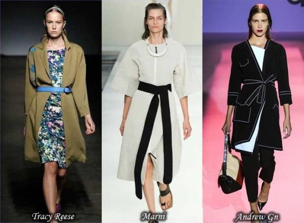 Trench la moda cu centura primavara 2015