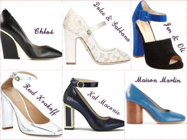 Pantofi dama cu toc gros comfortabil primavara 2015