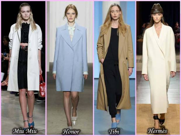 Palton la moda in stil clasic pentru femei primavara 2015