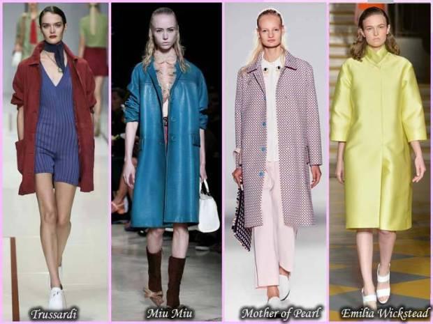 Paltoane de diferite culori primavara 2015 femei