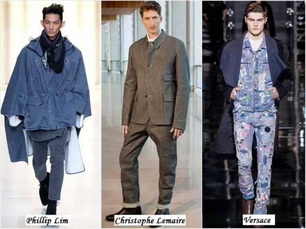 Haine de jeans barbati iarna 2015
