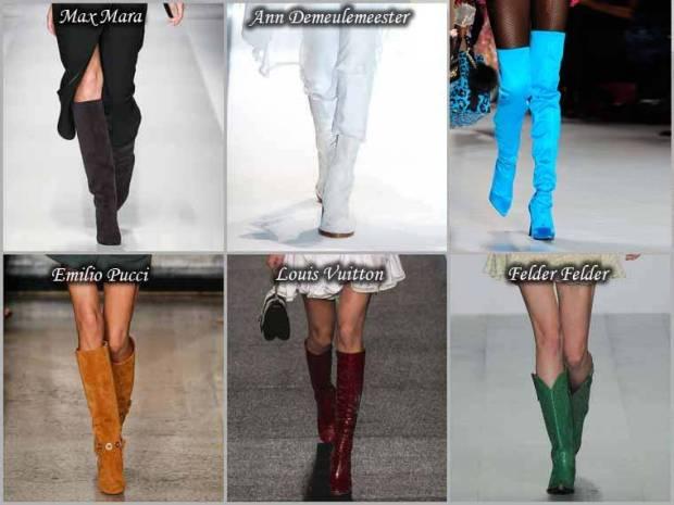 Gama de culori la moda cizme primavara 2015