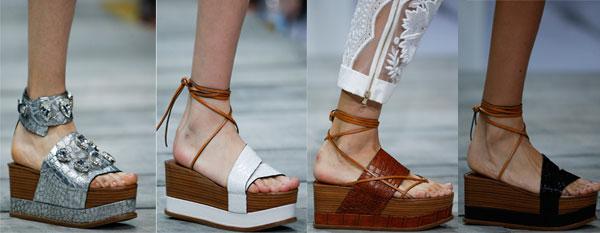 Sandale cu platforma inalta primavara-vara 2015