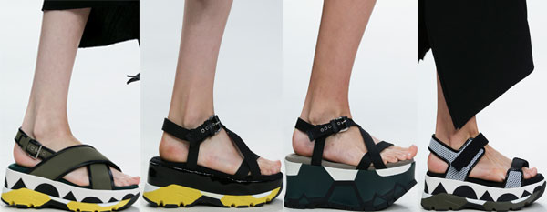 Sandale dama cu platforma inalta Marni