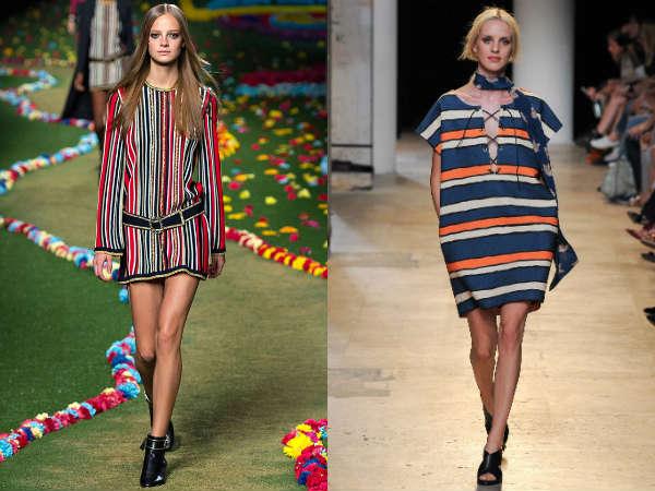 Modele de tunici cu dungi
