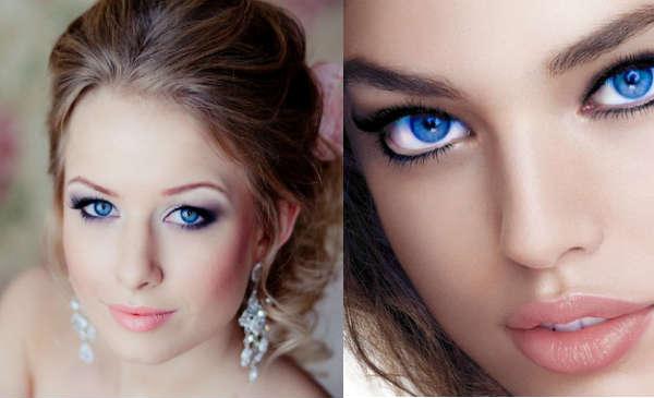 Culori pentru machiaj ochi albastru inchis