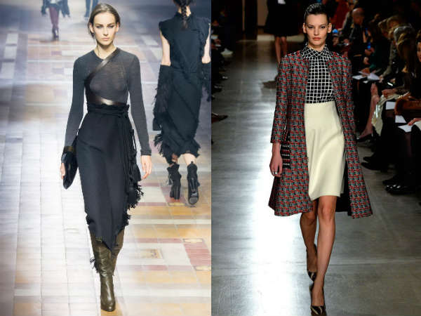 Fuste cu talia inalta la moda toamna 2015 iarna 2016
