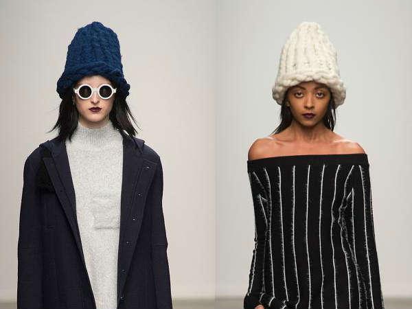 Caciuli tricotate la moda