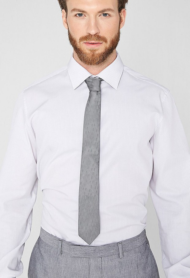 Cravate gri pentru barbati