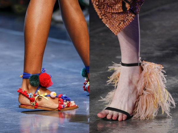 Sandale primavara vara 2016: material