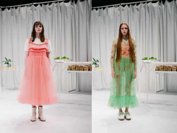 Molly Goddard la saptamana modei la Londra