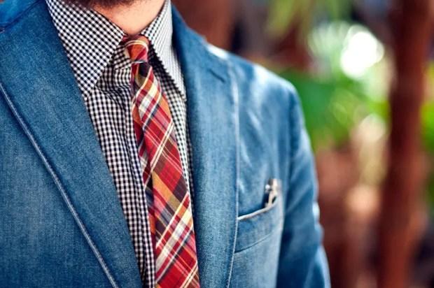 Cravate slim pentru barbati Regat in carouri