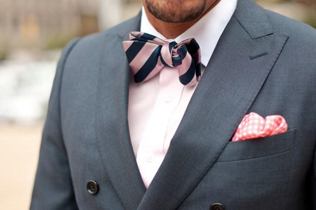 Imagine cravata-papion in dungi pentru barbati