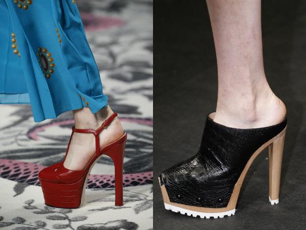 Sandale cu toc cui din piele