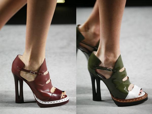 Pantofi piele cu toc primavara vara 2016