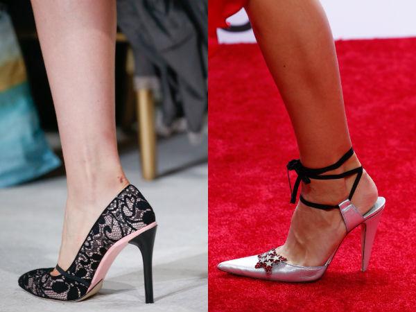Pantofi cu toc cui la moda primavara vara 2016