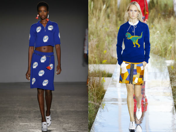 Albastru intens la moda