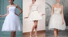 Alegem rochia de mireasa scurta