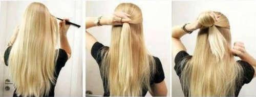 Coafuri rapide par lung blond