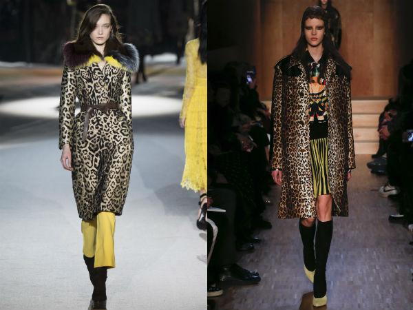 Modele trenciuri cu imprimeu leopard