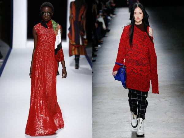 Nuante la moda 2017 rosu aprins