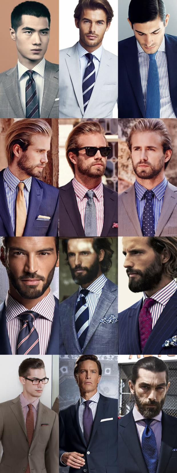Camasa in dungi ce cravata se portiveste