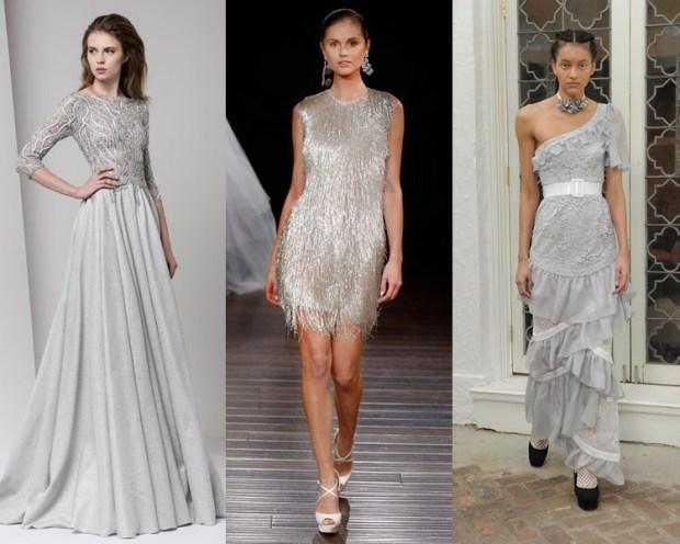 Modele rochii mireasa 2017 argintii