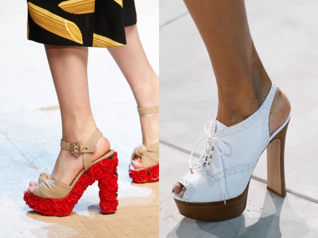 Sandale cu platforma si toc 2017