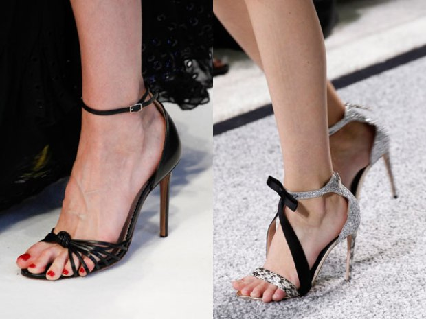 Sandale cu toc cui