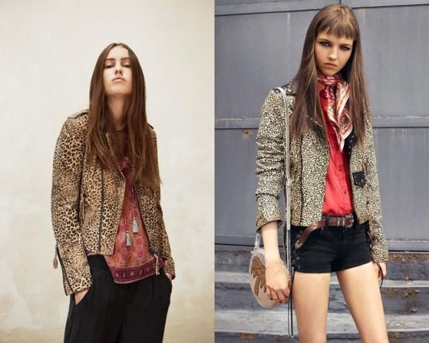 Geaca cu imprimeu leopard la moda in 2017